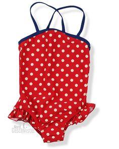 Pünktchen sind immer süß für Mädchen - MINI A TURE Badeanzug Helle mit Rüschen in tango red...