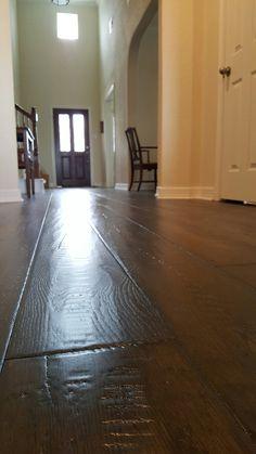L&M Engineered wood floor.  Wood floor installation in Katy Texas