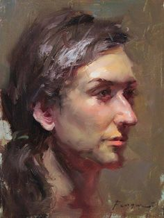 """Daily Paintworks - """"Head Study - Catherine"""" - Original Fine Art for Sale - © Fongwei Liu Figure Painting, Painting & Drawing, Portrait Sketches, Oil Portrait, Great Paintings, Traditional Paintings, Life Drawing, Portraits, Fine Art Gallery"""