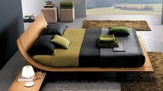 The color pairings are so serene... Aqua 2 Platform Bed
