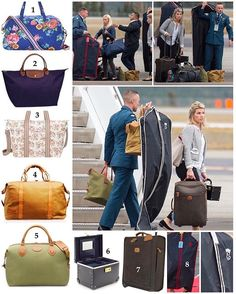 Duchess Kate's travel luggage spotted on their 2016 Canada tour. 1: Joules 'Stop Over' Holdall (£75/$109). 2: Longchamp 'Le Pilage' tote in navy. (£68/$180) Kate has a number of Longchamp handbags and totes in various colours. She has been a fan of the French brand since her university years. 3: Cath Kidston Foldaway Overnight bag (£38/$55). 4: Sandstorm Kenya 'Odyssey' travel bag (£245/$356). I have this and get so much use out of it. Kate received this as a gift when she and William got…