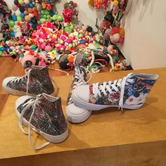 Jan Brandt Gallery designed custom Zipz from shoesinked.com on display at The Illinois State Museum in Lockport!!....:)