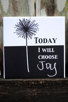 "Today I Will Choose Joy Tile Wall Hanging 6"" x 6"" -. $10.00, via Etsy."