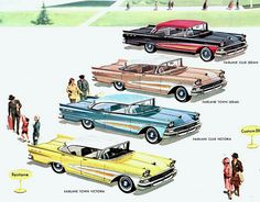 This early (September, Ford full-line brochure depicted the Fairlane models without the later spring trim option. American Classic Cars, Ford Classic Cars, Classic Auto, Ford Motor Company, Retro Cars, Vintage Cars, Vintage Auto, 1973 Mustang, Ford Lincoln Mercury