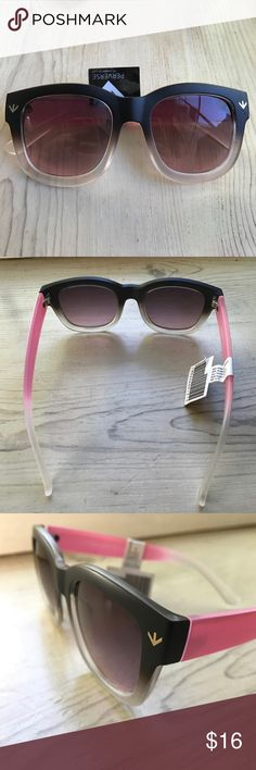 Perverse Gradient Pink/Black sunglasses Fun Celine-style sunglasses in a popular bubblegum pink, smoke and black with gradient lenses by Perverse (sold at Nordstrom). Brand new with tag still attached. Nordstrom Accessories Sunglasses