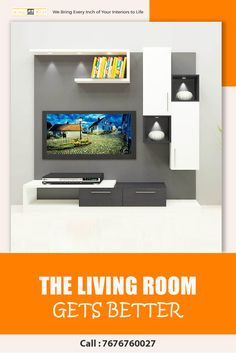 Decorate your living room with this contemporary fitted entertainment unit. Avail exclusive designs with experts at Scaleinch. Modern Tv Unit Designs, Modern Tv Units, Living Room Cabinets, Tv Cabinets, Tv Unit Online, Apartment Interior Design, Best Interior, The Unit, Entertainment