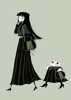 01 03 2015 by CottonValent Dark Drawings, Amazing Drawings, Character Art, Character Design, Creepy Cat, Arte Obscura, Kawaii Doodles, Goth Art, Cute Illustration