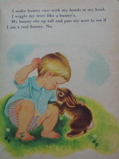 My Snuggly Bunny Vintage Little Golden Book by by TheVintageRead