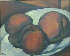 André Derain (French, Plate of Peaches, The Metropolitan Museum of Art, New York. Gift of The Philip and Janice Levin Foundation, 2007 Andre Derain, French Paintings, Still Life Fruit, Great Works Of Art, Maker Culture, Installation Art, Art Installations, Art Academy