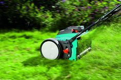Gardena amp LithiumIon Cordless Push Reel Lawn Mower *** For additional information, browse through picture web link. (This is an affiliate link). Reel Lawn Mower, Walk Behind Lawn Mower, Leaf Blower, Lawn Care, Outdoor Gardens, Outdoor Power Equipment, Amp, Wolf, German