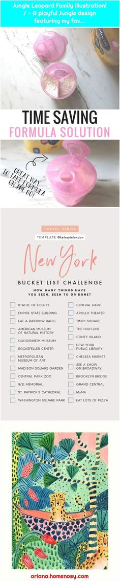 Newborn hacks and tips every mom should know! These make life with baby so much . / - A playful Jungle design . New York Bucket List, Art Central, List Challenges, Baby Travel, Family Illustration, Traveling With Baby, Used Iphone, New Baby Products, Finding Yourself