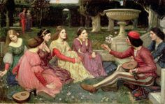 A Tale From the Decameron - John William Waterhouse 1916