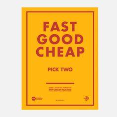Siebdruck Fast Good Cheap design inspiration on Fab.