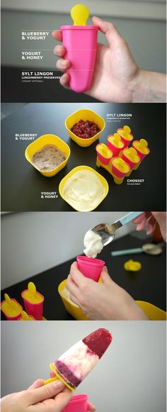 Easy DIY red, white and blue popsicles! Use the IKEA CHOSIGT popsicle maker to create new combos all summer long! Check out the recipe: http://www.theshare-space.com/BlogPostDetail/?entryId=381