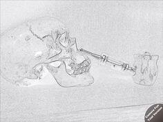 Cool sketch art of my epipe and favorite skull