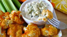 Baked Cauliflower with Buffalo Sauce and Home Made Blue Cheese Dressing - Recipes - Whole Foods Market Cooking