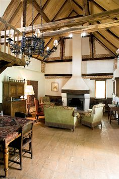 Regal proportions: It boasts five bedrooms, and seven metre high ceilings above the drawin...