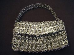 How to make a recycled bag. Pop Tab Purse!! - Step 22