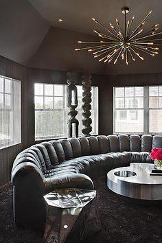 De Sede Sofa. Interior design by Julie Hillman.