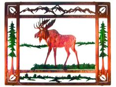 Forest Moose Metal Wall Sculpture