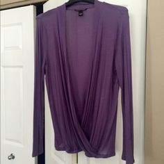 Victoria Secret Lavender Draped Shirt Sz LGNew Victoria Secret Lavender Shrug Shirt Sz LargeNew Victoria's Secret Tops