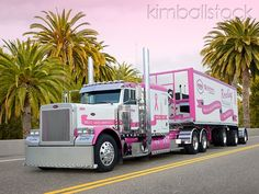 2006 Peterbilt 379 Pink And White - For the Ladies!