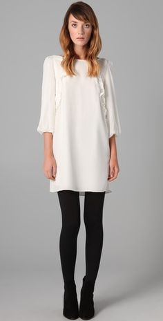 Need to find myself a pair of solid black tights! They always seem to be slightly see-through when stretched. Any ideas where I can find black non see-through tights?
