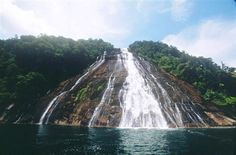 Waterfall in Mursala Island Sibolga North Sumatra