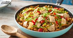 One-Pan Taco Beef Noodle Skillet #recipe
