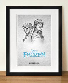 Disney's Frozen  Anna and Kristoff Digital Art by watchitDesigns, $12.00 I would love to get this!!!!!