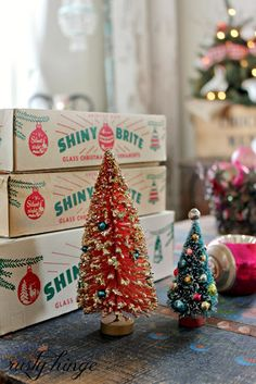Small vintage christmas trees