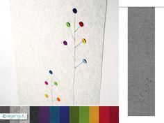 Cool vorhang flaechenvorhang aus filz blickdicht dots blumen