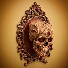 Art by Chris Haas - obsessed with skulls