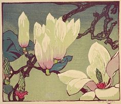 Mabel Royds (English, 1874 - 1941): Magnolia (c. 1936) (via National Galleries Scotland)