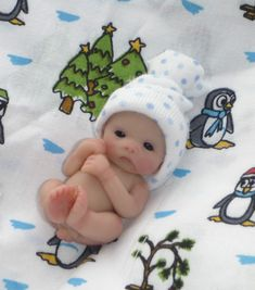 "~ Ooak 2"" Full Sculpt Newborn Baby Boy * JASON * Ready for Winter ~ One Day ~"