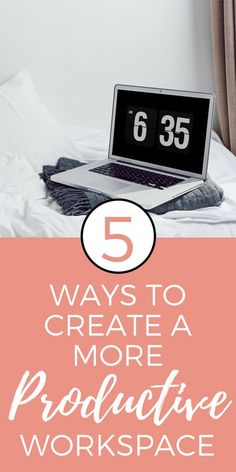 How to Create a Productive Workspace - I've spent a lot of time making sure my workspace is as productive as possible. Here are some tips that might help you create a productive workspace too! // The Refined Revelry << #productivity #homeoffice