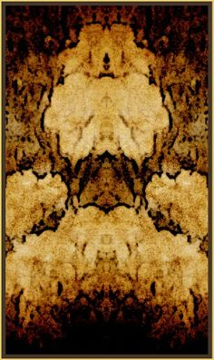 """""""Old Gold""""   Original abstract art   by  Irena Kristina Rose Forrester      Copyright  2015  all rights reserved"""