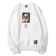 Epitome of Japanese High Street Fashion. Features a high-quality print on a premium soft cotton sweatshirt. Features a relaxed fit with ribbed cuffs. Mens Sweatshirts, Hoodies, Logos Retro, Urban Fashion, Street Fashion, Curvy Fashion, Fall Fashion, Fashion Trends, Tee Design
