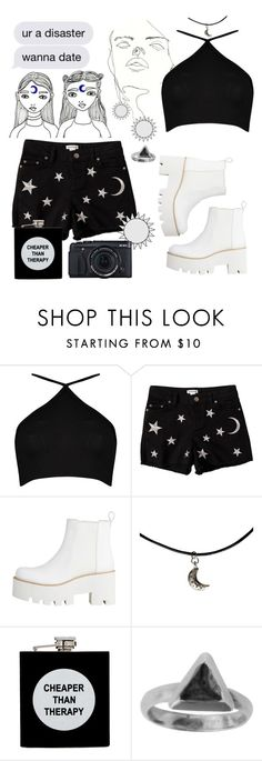 """""""Disaster…"""" by viriditygirls ❤ liked on Polyvore featuring Boohoo, Savannah, ASOS and Zoemou"""