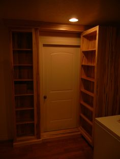 A beautiful Secret passage built by one of our DIY customers using the Patented Murphy Door Hardware, available at www.themurphydoor.com or one of our Superior vendors