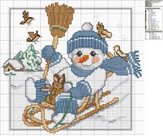 > Christmas - cross stitch patterns -2 / new year - multiply business templates -2   rusensdiary