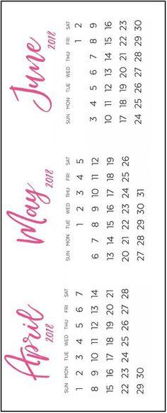 quarterly family planner calendar