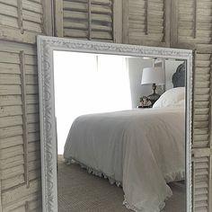 Mirror White Decorative Large Bathroom Vanity Mirrors French Shabby Chic Style