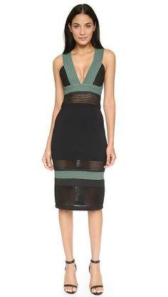 Jonathan Simkhai Scallop Pencil Dress #Shopbop