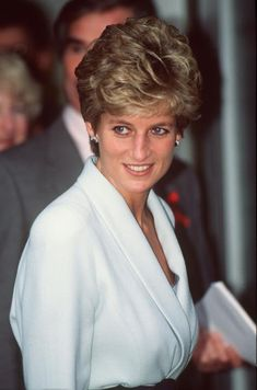 Princess Diana arrives at the Mortimer Market Centre, a service for HIV/AIDS sufferers in London on December 1, 1994.