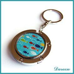 Ryby, rybky, rybičky - modré - háček na kabelku