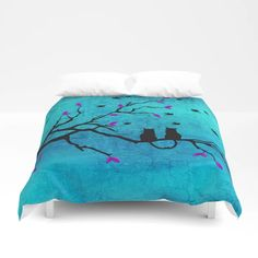 Buy Lovecats - Together forever Duvet Cover by augustinet. Worldwide shipping available at Society6.com. Just one of millions of high quality products available. 3d Cinema, Android Wifi, Foot Of Bed, Together Forever, Soft Duvet Covers, All Wall, Duvet Insert, Twin Xl, King Size