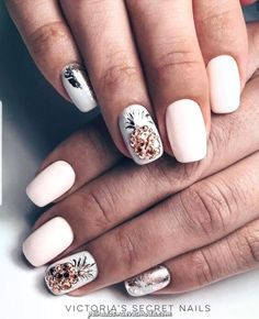 100 Most Beautiful Short Nails Designs for 2019 – Page 3 – BelleTag While some women like their nails to be long, the others find short nails practical. Check most stunning short nails designs for your inspiration. Cute Acrylic Nails, Cute Nails, Pretty Nails, Short Nail Designs, Gel Nail Designs, Nails Design, Pineapple Nails, Pineapple Nail Design, Almond Nails