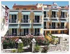 Samaina Hotel in Pythagorio Samos, Mansions, House Styles, Travel, Home Decor, Viajes, Decoration Home, Manor Houses, Room Decor