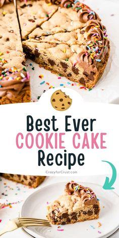 Chocolate Chip M&m Cookies, Chocolate Chip Recipes, Popular Cookie Recipe, Best Cookie Recipes, Sweet Recipes, Cupcake Cakes, Cookie Cakes, Cupcakes, Cookie Cake Birthday